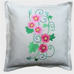 Hollyhock Spray Cushion