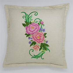 Peony Spray Cushion