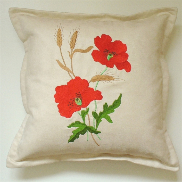 Red Poppies Cushion