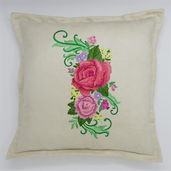 Rose Spray Cushion